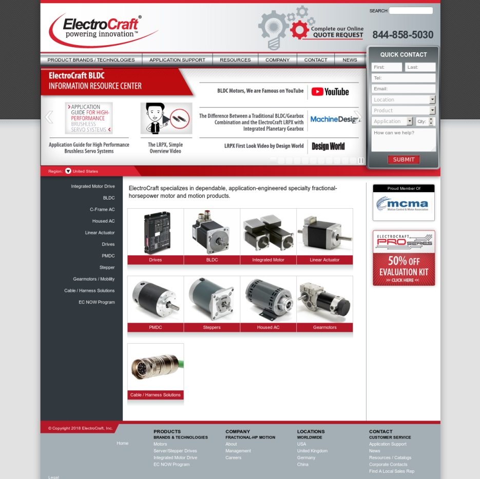 Fractional horsepower motor manufacturers suppliers for Electro craft corporation dc motors